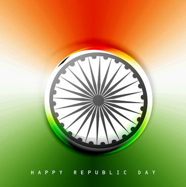 indian flag stylish wave illustration for independence day background vector