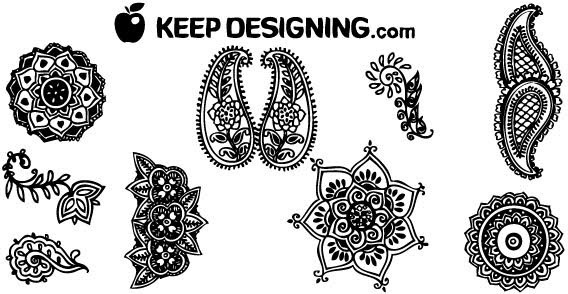 Vector Henna Designs Free Vector Download 6 Free Vector For