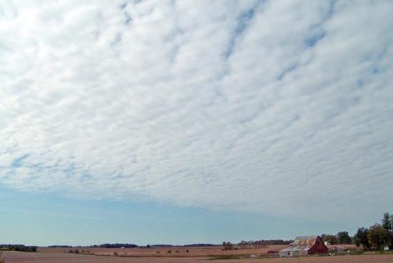indiana farm and sky