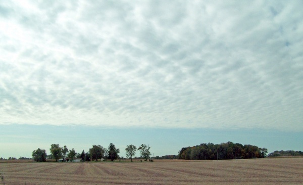 indiana field and clouds