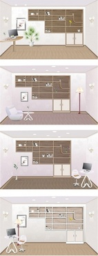 indoor home furnishings vector 2