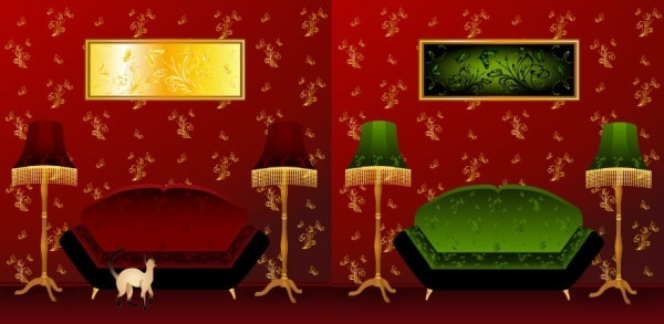 indoor scenes vector