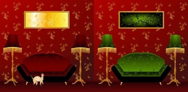 indoor scenes vector