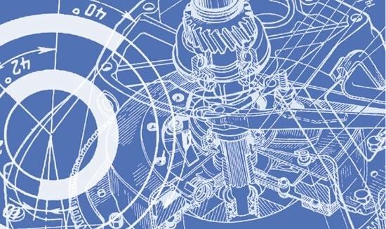 technology background mechanical gear parts sketch 3d design