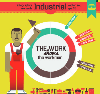 industrial infographics vector