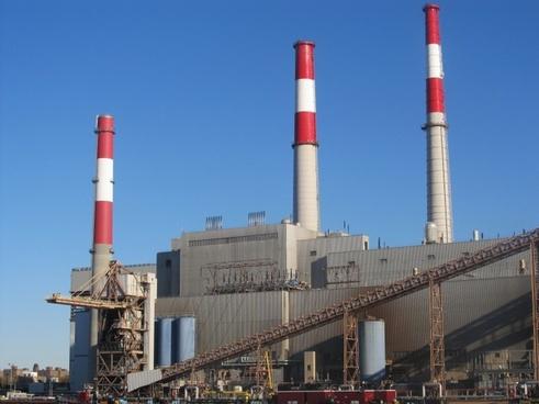 industrial smokestack smoke