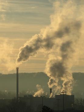 industry smoke chimney