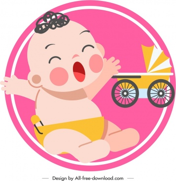 infant baby icon cute cartoon sketch