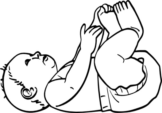 Infant Outline clip art