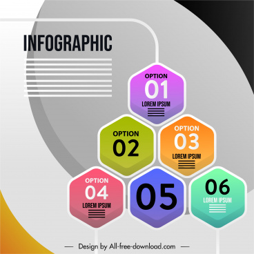 infographic banner template colorful modern flat design