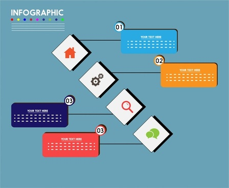 infographic design and symmetric arrangement style