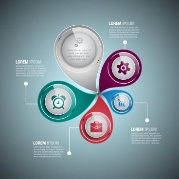 infographic design colorful vortex style modern shiny decoration