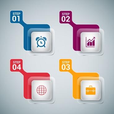 infographic design element shiny transparent squares design