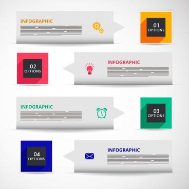 infographic design element various arrows squares decoration