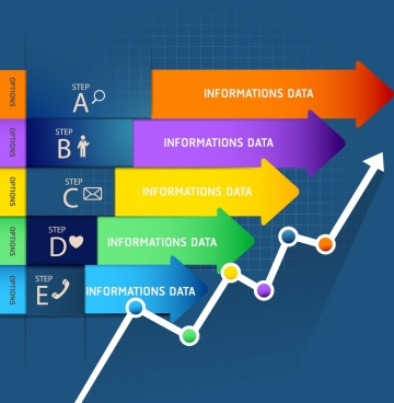 infographic design elements colorful arrow bars lines