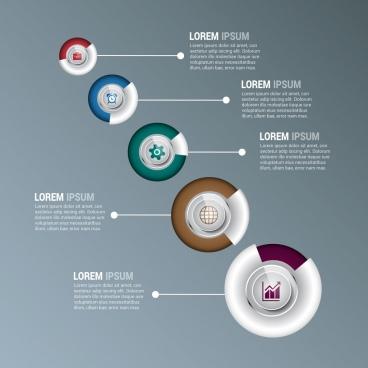 infographic design elements colorful circles decoration