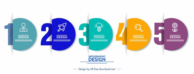 infographic design elements elegant 3d papercut shapes