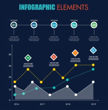 infographic design elements lines dots circles decor