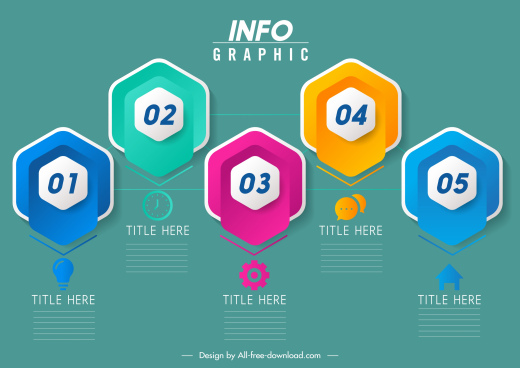 infographic design elements modern colorful geometric shapes