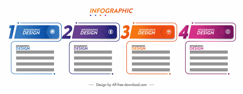 infographic design elements modern flat squared shapes