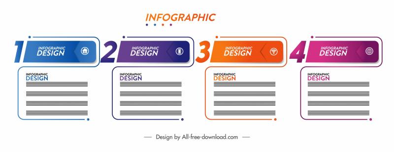 infographic design elements modern flat squared shapes