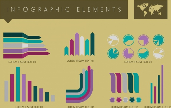 infographic design elements various charts design