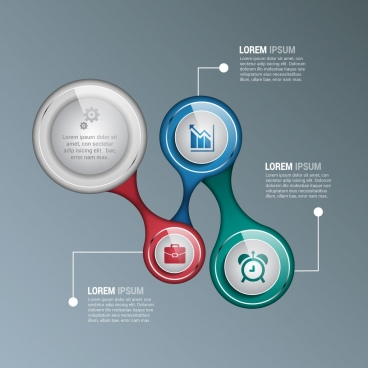 infographic design set modern shiny circle decoration