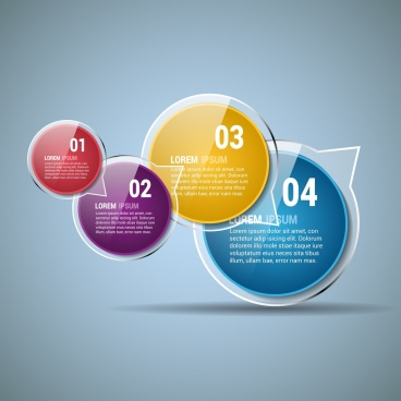 infographic design template shiny colored speech baubles decoration