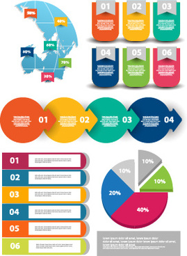 infographic desing elements with banner vector