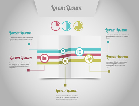 infographic fold grey