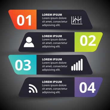 infographic illustration with horizontal black flat bars