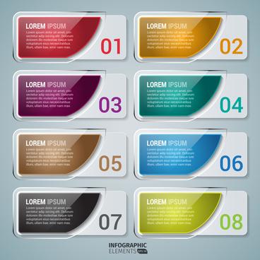 infographic number banner design elements