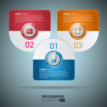 infographic rounded design elements template