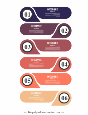 infographic template flat horizontal layers sketch