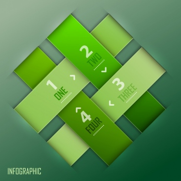 infographic template green cross lines decor