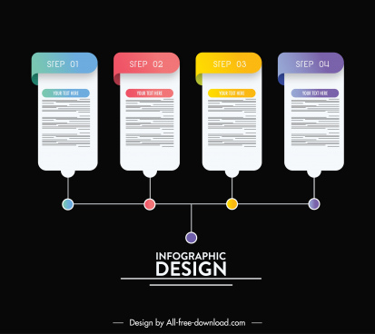 infographic template modern contrast design chart sketch