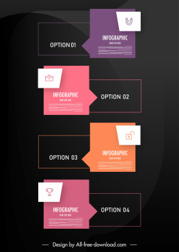 infographic template modern flat arrow shapes