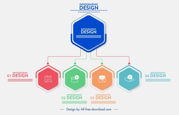 infographic template polygonal chart shape design