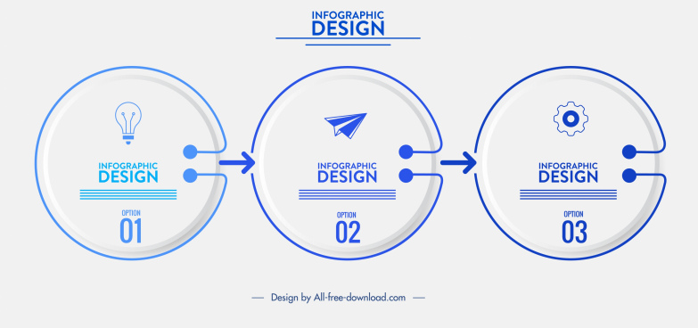 infographic template technology theme modern circles design