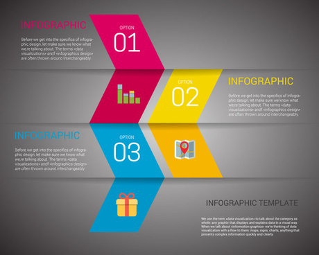 infographic template vector design with abstract arrows