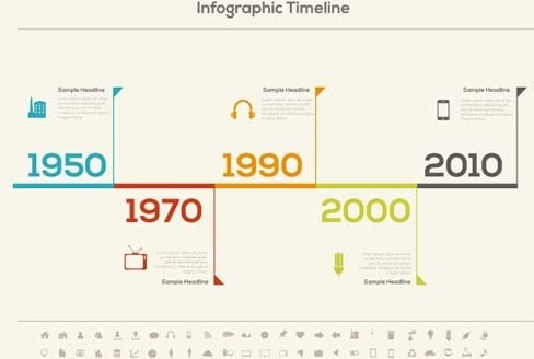 infographic timeline vector template