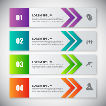 infographic vector design on horizontal banners