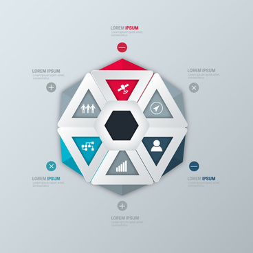 infographic vector design with geometric connection
