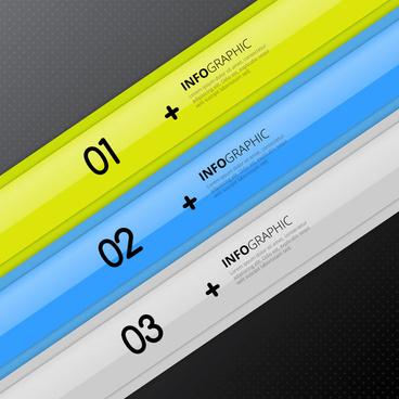 infographic vector design with slant bands illustration