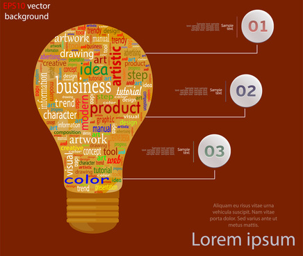 infographic vector illustration with artistic lightbulb
