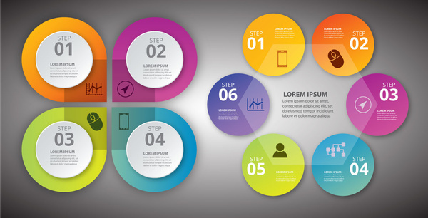 infographic vector illustration with colorful circles