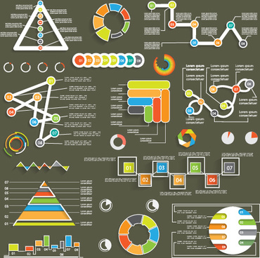 infographic with diagrams elements design illustration vector