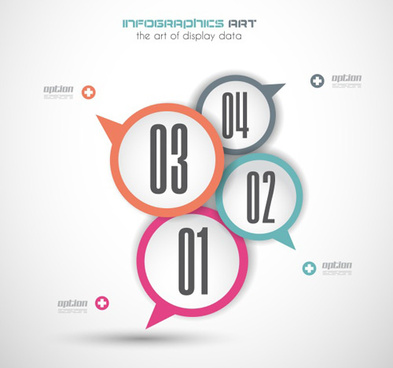 infographic with speech bubbles vector