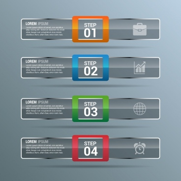 infographics design template grey horizontal bars decoration