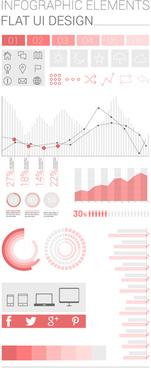 infographics elements flat ui vector